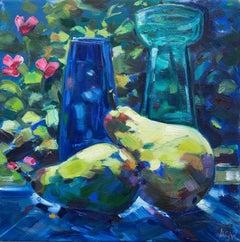 Angela Gordon-Webb, Beautiful Pear, Original Bright Still Life Painting