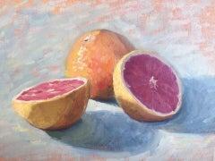 Benedict Flanagan, Grapefruit, Original Contemporary Still Life Food Painting