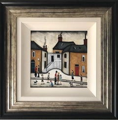Sean Durkin, Village Life, Contemporary Painting in the Style of Lowry
