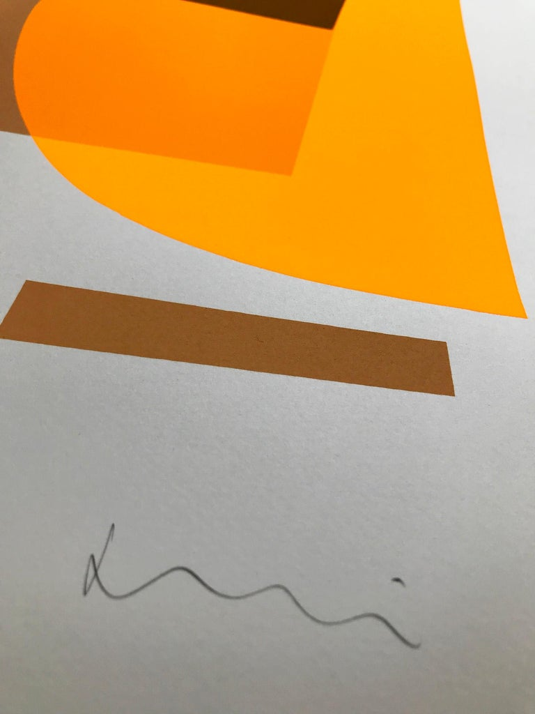 Flux 01 BY JONATHAN LAWES, Original Unqiue Geometric Prints, Bright Abstract Art For Sale 1