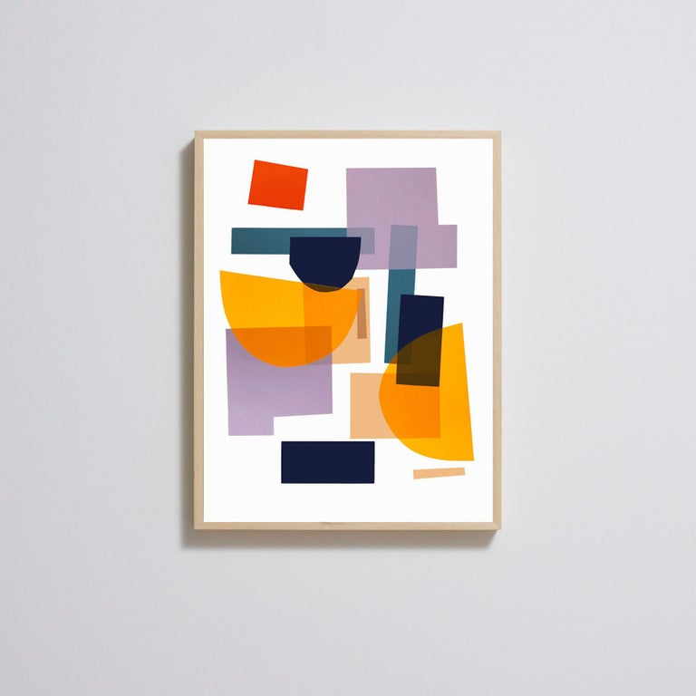 Flux 01 BY JONATHAN LAWES, Original Unqiue Geometric Prints, Bright Abstract Art - Orange Abstract Print by Jonathan Lawes