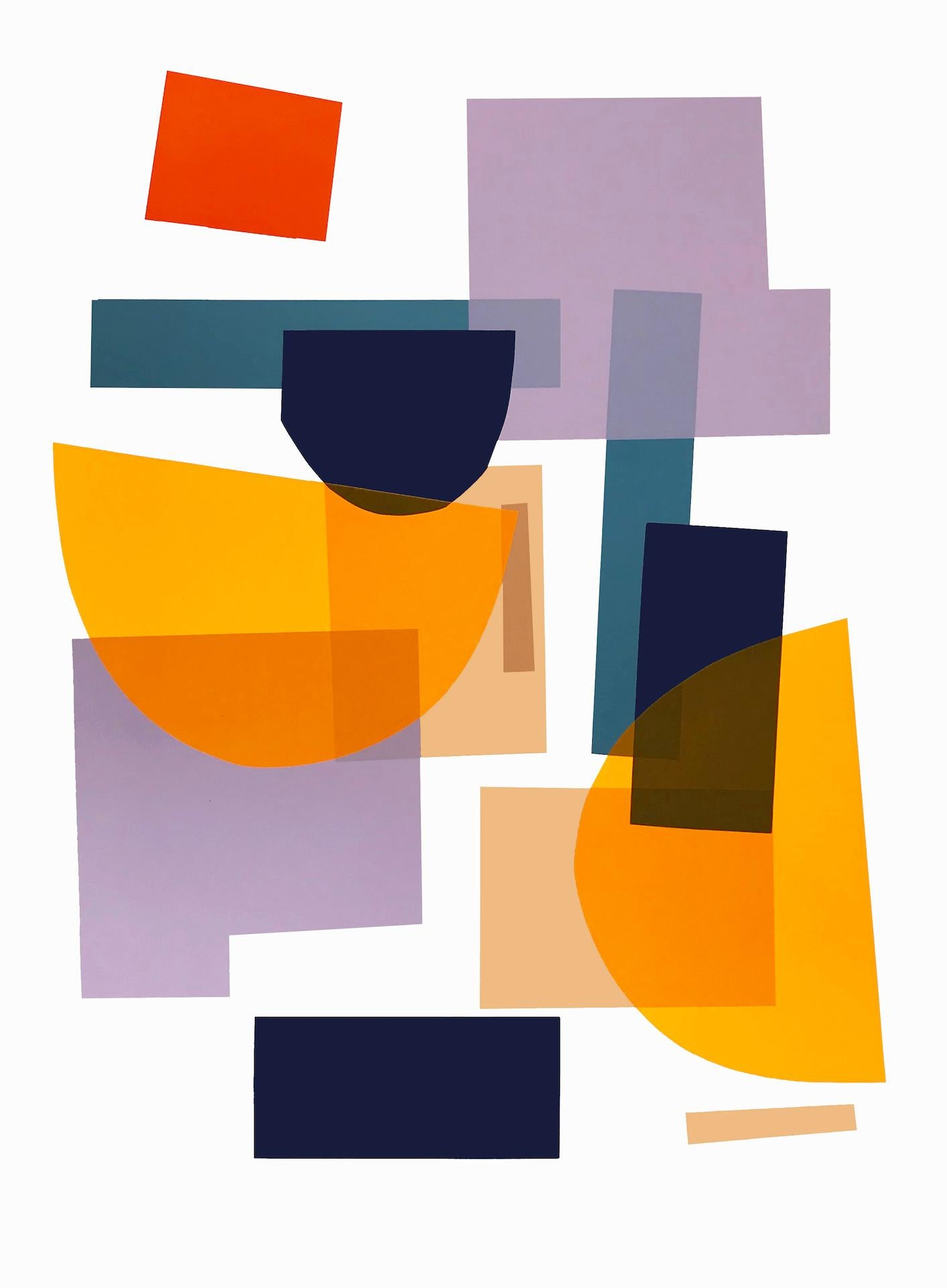 Flux 01 BY JONATHAN LAWES, Original Unqiue Geometric Prints, Bright Abstract Art