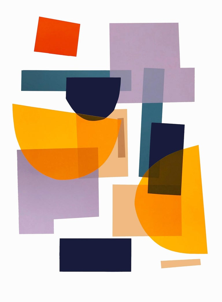 Jonathan Lawes Abstract Print - Flux 01 BY JONATHAN LAWES, Original Unqiue Geometric Prints, Bright Abstract Art
