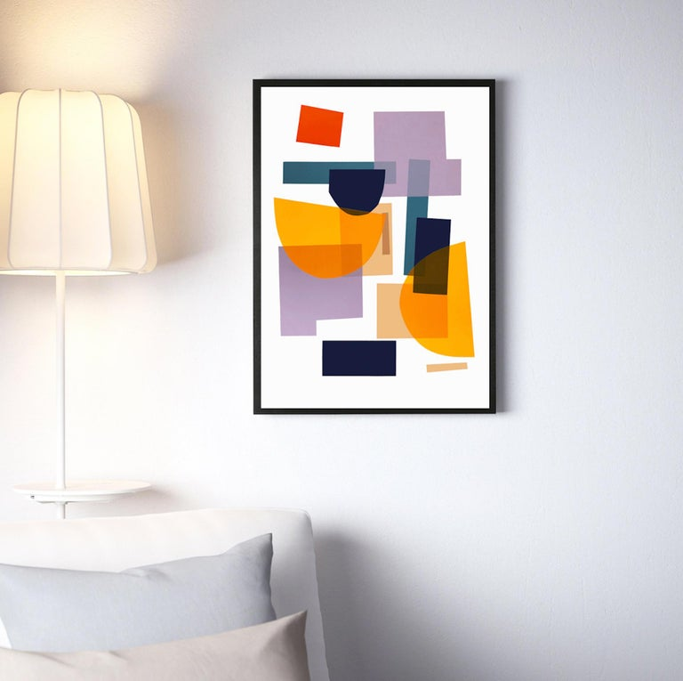 Flux 01 BY JONATHAN LAWES, Original Unqiue Geometric Prints, Bright Abstract Art For Sale 2