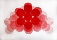 Jonathan Moss, I.F.X, Unique Relief Print, Bright Minimalist Art, Statement Art
