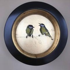 Great Tits BY SALLY-ANN JOHNS, Original Bird Drawing, Animal Art, Nature Art