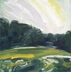 Suzanne Winn, Spring Fields II, Original Abstract Landscape Painting
