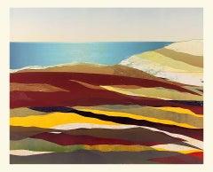 Sarah du Feu, Cornwall Seascape 1, Original Monoprint, Bright Art, Statement Art