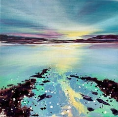 Adele Riley, The Silence of Peace, Original Landscape Painting, Bright Seascape