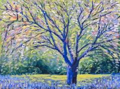 Lee Tiller, Birdsong in Springtime, Original Contemporary Impressionist Painting