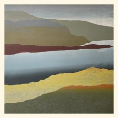 Drizzly Day in Haweswater BY SARAH DU FEU, Original Landscape Monoprint