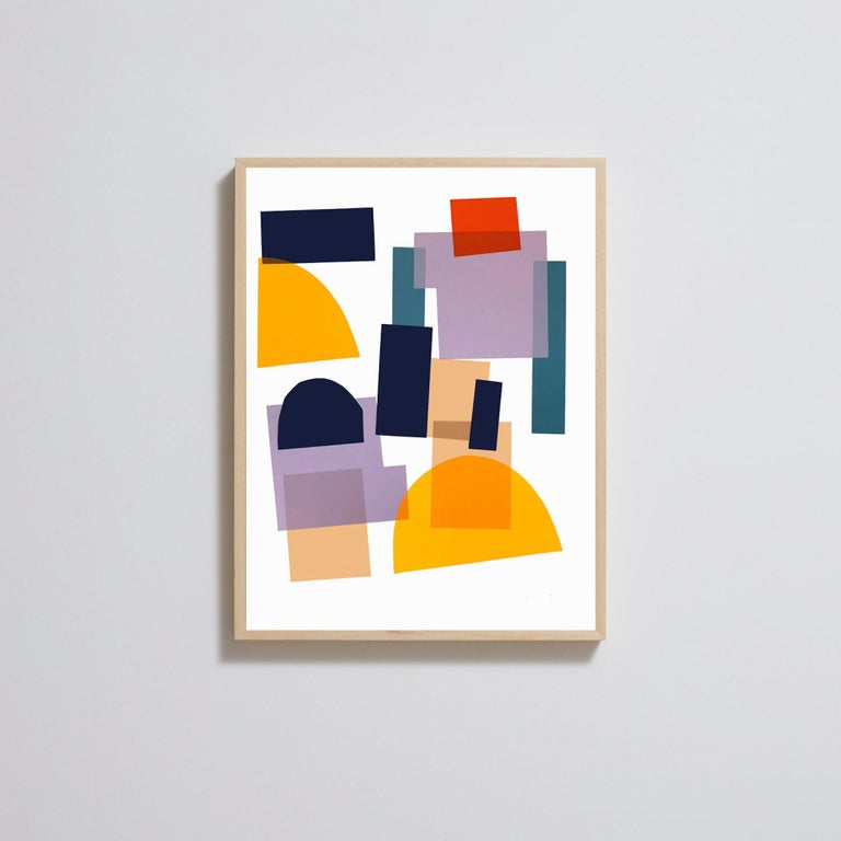 Jonathan Lawes, Flux 02, Abstract Geometric Art, Bright Art, Affordable Art For Sale 2