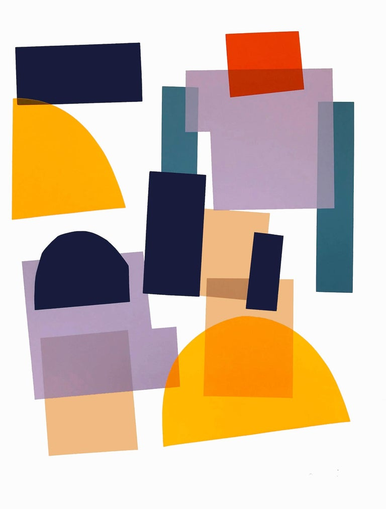 Jonathan Lawes, Flux 02, Abstract Geometric Art, Bright Art, Affordable Art - Print by Jonathan Lawes