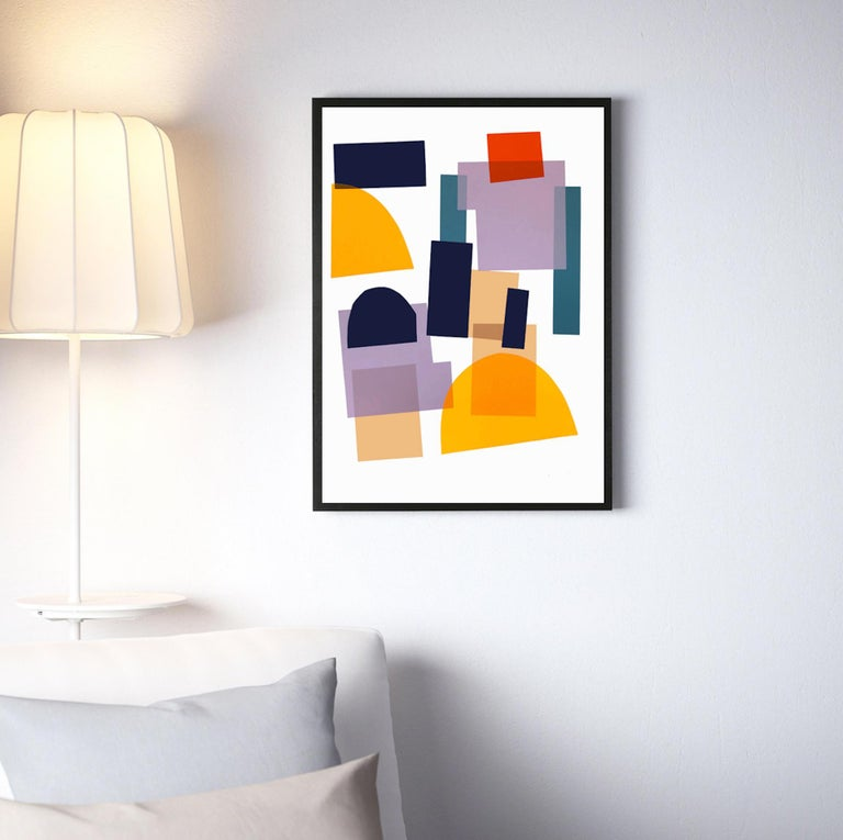 Jonathan Lawes, Flux 02, Abstract Geometric Art, Bright Art, Affordable Art - Cubist Print by Jonathan Lawes