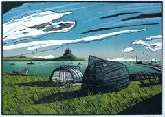 Colin Moore, Lindisfarne, Limited Edition Seascape Print, Boat Art, Sailing Art