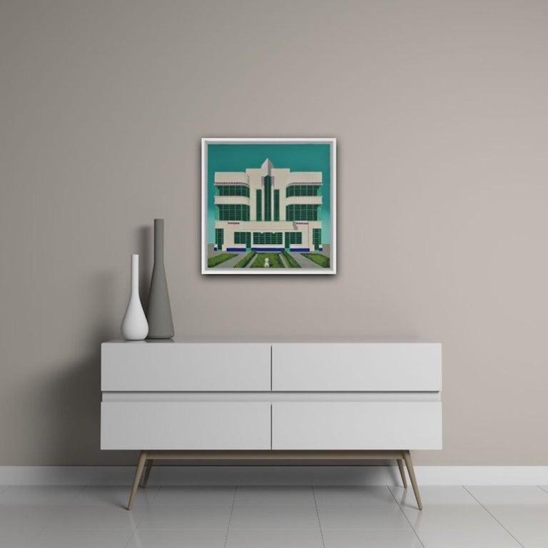 Wes Anderson's Dog – Hoover Building, Mychael Barratt, Bright Art, Pop Art For Sale 3
