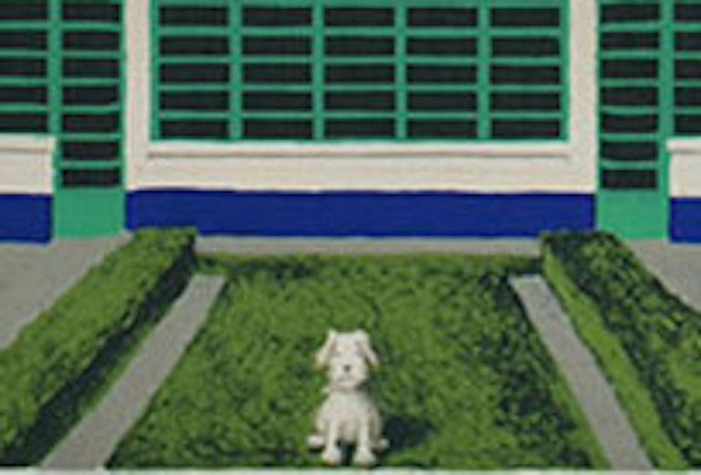 Wes Anderson's Dog – Hoover Building, Mychael Barratt, Bright Art, Pop Art For Sale 1