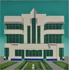 Wes Anderson's Dog – Hoover Building, Mychael Barratt, Bright Art, Pop Art