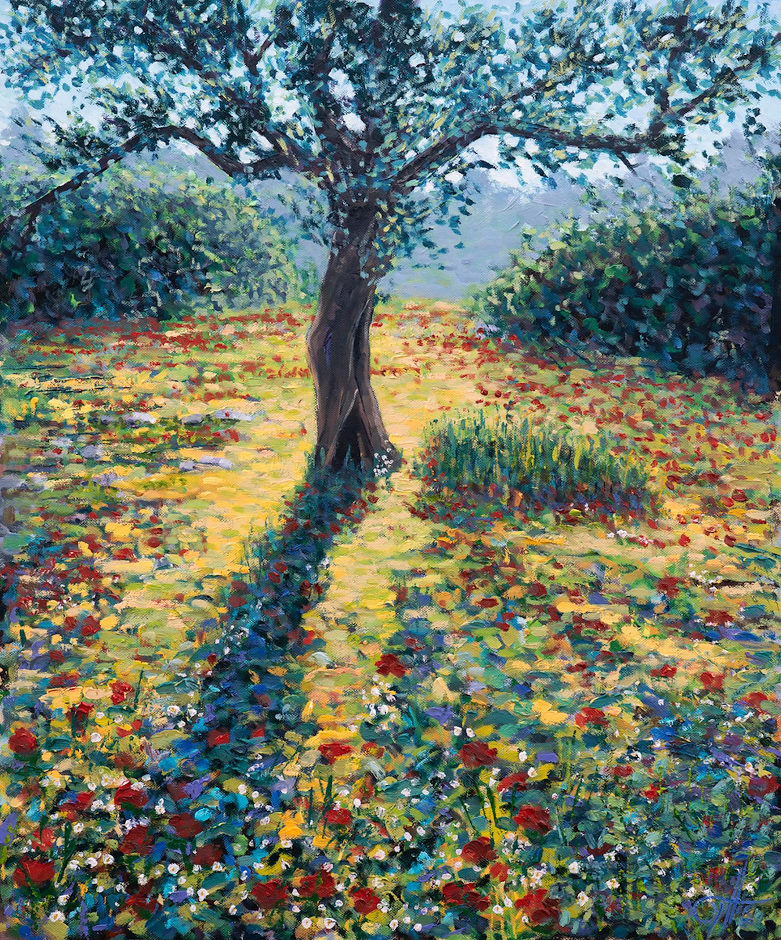 Lee Tiller, Meet Me on the Other Side, Original Impressionist Landscape Painting