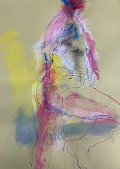 Judith Brenner, Alberto Standing 3, Original Figurative Painting, Bright Art