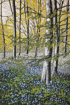 Bluebell Solitude BY ALEXANDRA BUCKLE, Contemporary Landscape Print, Affordable
