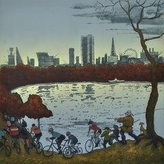 Mychael Barratt, The Serpentine, Hyde Park – Autumn, after Bruegel, Dutch Art