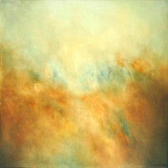 Clare Podesta, Rolling On, Bright Abstract Landscapes, Romanticist Painting