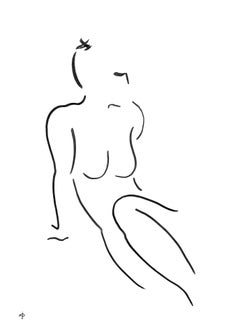 David Jones, Nude Drawing Series 7 No.17D, Contemporary Minimalist Life Drawing