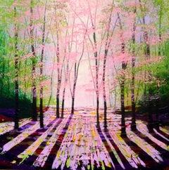 Amanda Horvath, The Light of Spring, Original Contemporary Landscape Painting