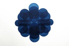 Jonathan Moss, NV9, Unique Print, Contemporary Minimalist Art, Blue Art, Dynamic