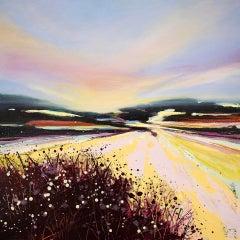 Adele Riley, Sea Mist, Original Seascape Painting, Impressionist Sea Art