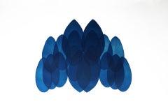 Jonathan Moss, NV24, Original Contemporary Art, Unique Print, Blue and White Art