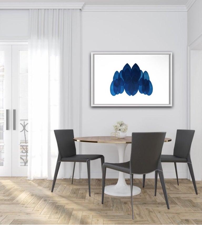 Jonathan Moss, NV24, Original Contemporary Art, Unique Print, Blue and White Art For Sale 4