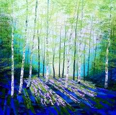 Amanda Horvath, Secret Spring Original Bright Landscape Painting, Affordable Art