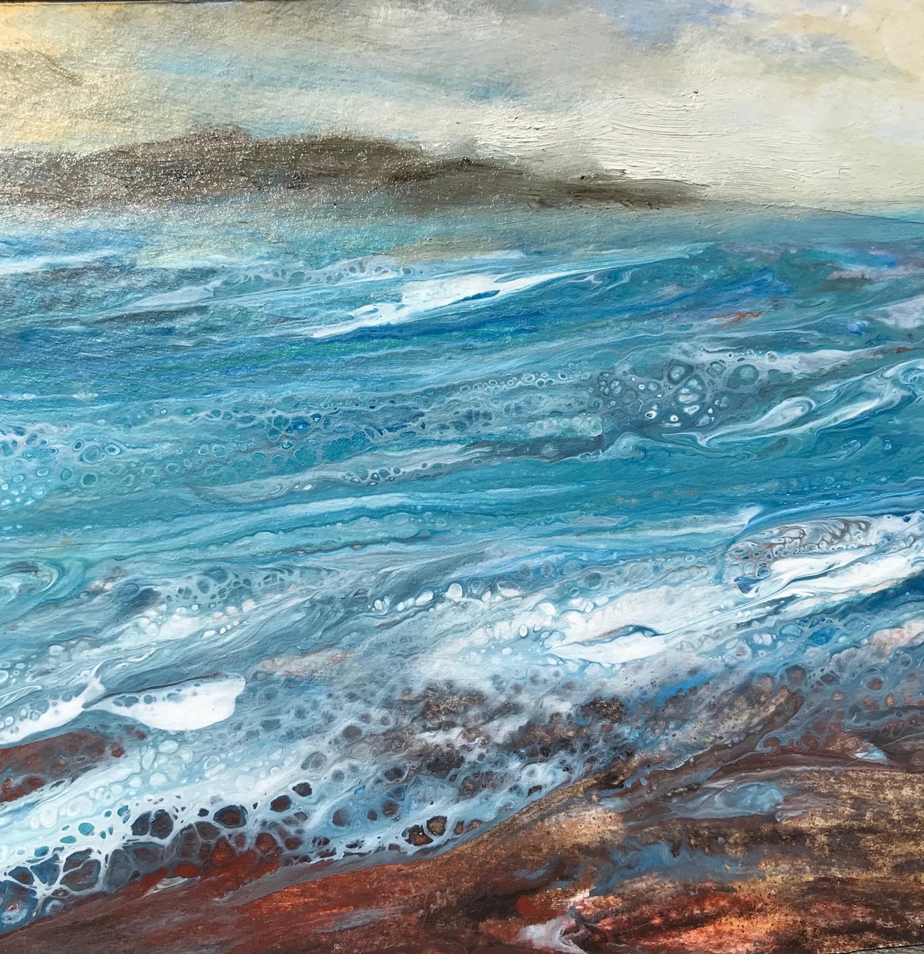 Cathryn Jeff, Sea Foam, Original Affordable Contemporary Art, Seascape Painting