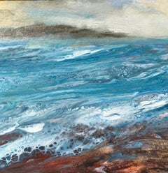 Cathryn Jeff, Sea Foam, Original Affordable Contemporary Art, Seascape Painting