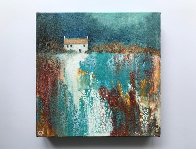 Cathryn Jeff No Neighbours Original Mixed Media Painting on Deep Canvas Canvas Size: 25 cm x 25 cm x 3.5 cm Sold Unframed Free Shipping  Please note that in situ images are purely an indication of how a piece may look.  No Neighbours is an original