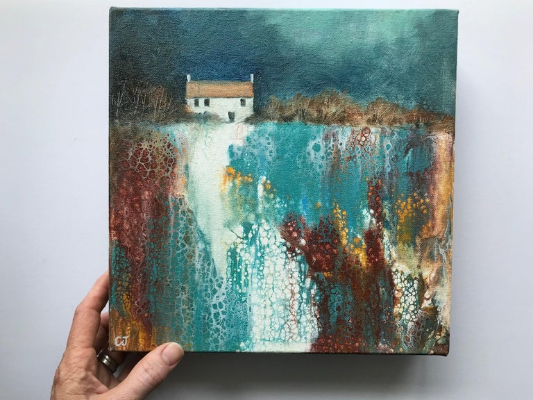 Cathryn Jeff, No Neighbours, Original Landscape Painting, Bright Abstract Art For Sale 5