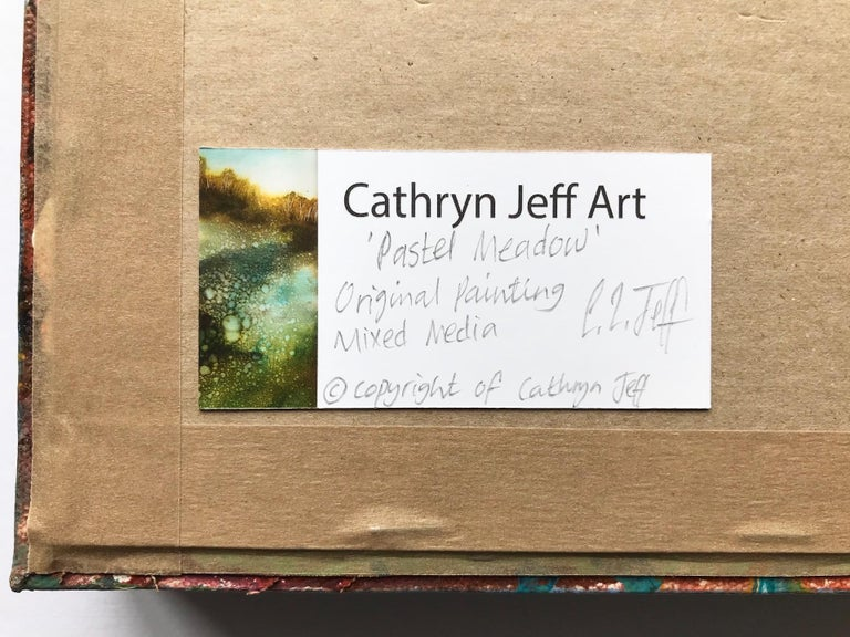 Cathryn Jeff, No Neighbours, Original Landscape Painting, Bright Abstract Art For Sale 10