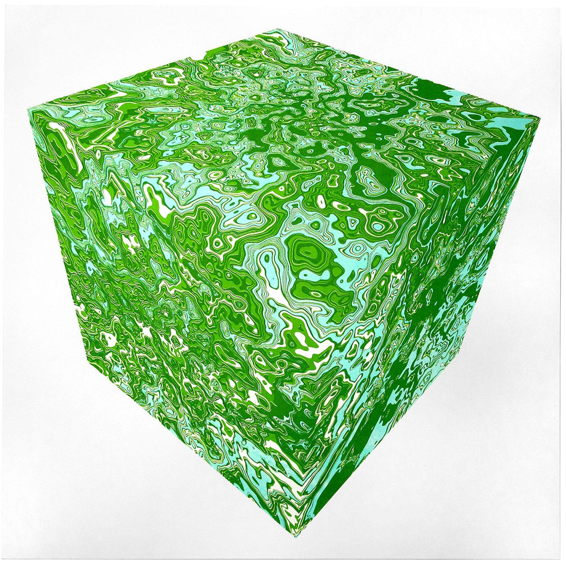 Chris Keegan, Cube, Limited Edition Geometric Art, Contemporary Minimalist Art