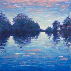 Lee Tiller, Evensong on the Thames (etude) Affordable Contemporary Landscape Art