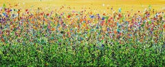 Lucy Moore, Daybreak Meadows, Bright Original Expressionist Landscape Painting