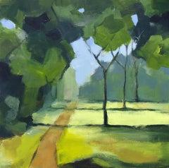 Margaret Crutchley, St James Park II, Original Impressionist Landscape Painting