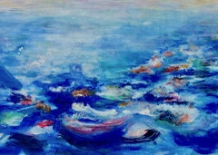 Roberta Tetzner, Holiday Memory 2, Original Impressionist Waterscape Painting