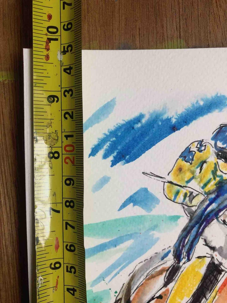 Garth Bayley, Anyone's Race, Original Horse Racing Painting, Contemporary Art For Sale 2