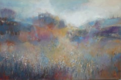 Jo Jenkins, The World of Shadows, Original Semi-Abstract Landscape Painting
