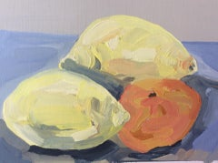 Sarah Adams, Two Lemons and a Clementine, Original Contemporary Still Life Art