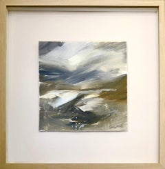 Eleanor Campbell, Snow Glen Torridon, Original Abstract Landscape Painting