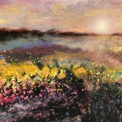 Cathryn Jeff, Countryside Fields, Original Impressionist Landscape Painting