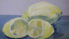 Sarah Adams, One Lemon and a Cut Lemon, Original Contemporary Naive Food Art